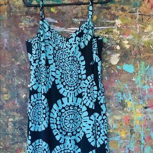Ann Taylor Loft Pattern Maxi Dress Lined Size 10 P